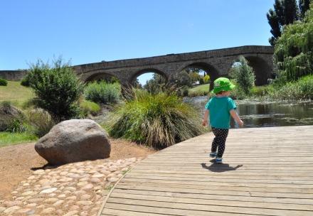 Merry Christmas Richmond Bridge River Hobart Tasmania
