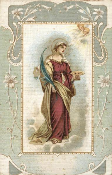 St Lucy Saint Santa Lucia Eyes Plate MArtyr
