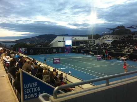 Hobart International Tennis Tournament Women Doman 2014