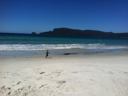 Bruny Island Tasmania Beach Sand Child Running