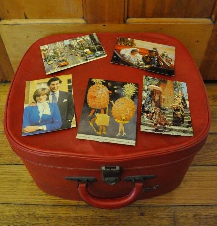 Childhood Postcards Travel Suitcase Memories Vintage Royal Wedding Charles Diana London