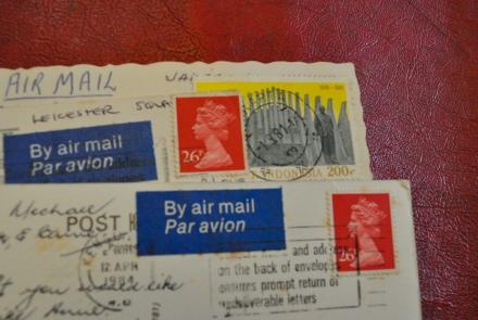 Childhood Postcards Memories Par Avion Queen Stamp Indonesia