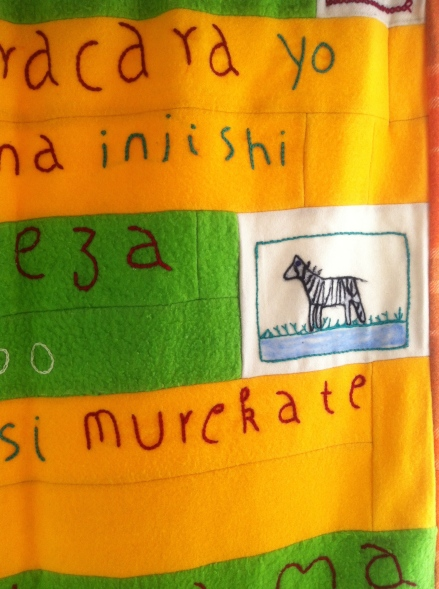 Lullaby Blanket Jackie McDonald Arts Project Rwanda Child Baby
