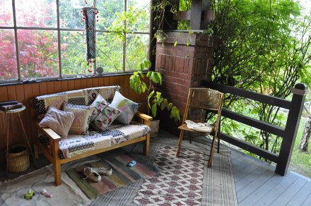Outdoor Room Outside Autumn Porch Garden Rug Couch