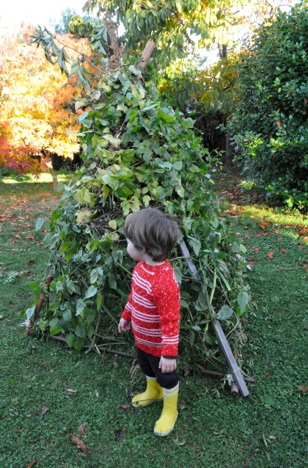 Home Made Stick Twig Teepee House Fort Tutorial Children