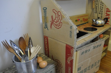Cardboard Box Carton Child Toy Play Kitchen DIY
