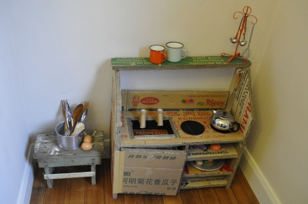 Cardboard Box Upcycled Kitchen Toy DIY