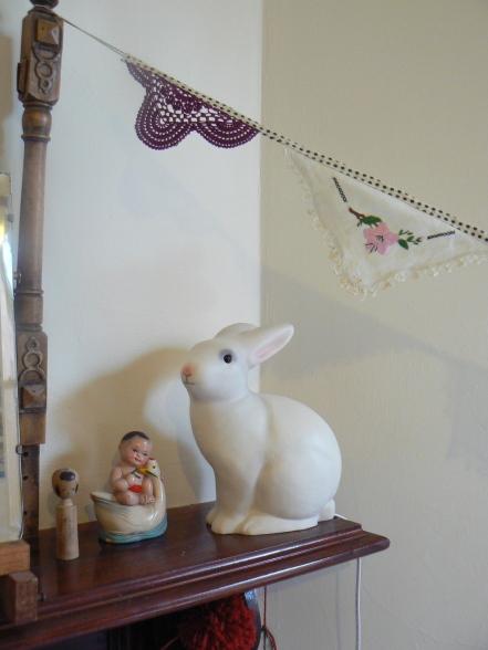 Baby Twin Nursery Vintage Pastels Heico Bunny Lamp