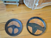 children home made steering wheels paint craft