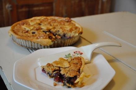 Cherry Pie Crumble Tart Seasonal Baking Recipe Wholemeal